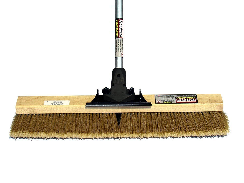 FlexSweep Flex-Power Unbreakable Commercial Push Broom (Contractors 24 Inch) Medium Bristles Multi Surface by FlexSweep
