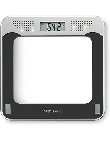 Medisana PS 425 40448, Báscula Digital Personal con Voz, con la base de vidrio
