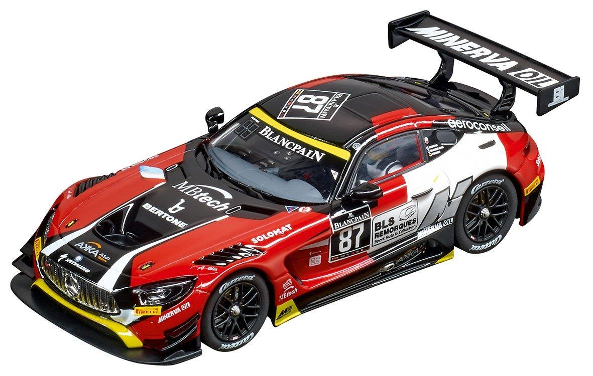 Carrera USA 20030846 Digital 132 Mercedes-Amg GT3 Akka Asp No.87 Slot Car Racing Vehicle, Red