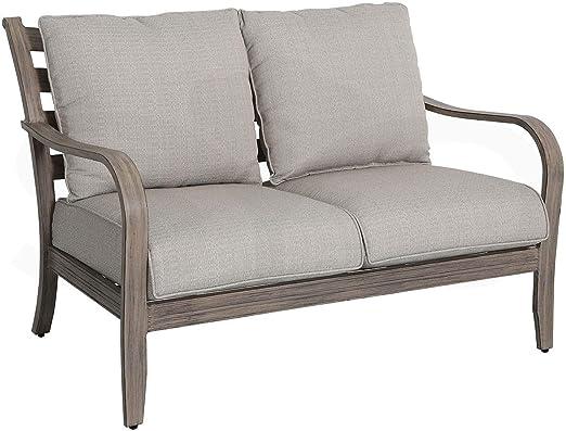 Sofá 2 plazas Aluminio de Primera Calidad para Jardin y Exterior ...