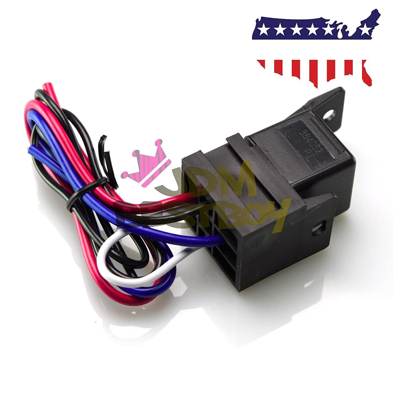 Universal 12v Car Engine Start Push Button Switch Here Is Your Wiring Diagram With The Ignition Starter Feature Kit Blue Led Automotive