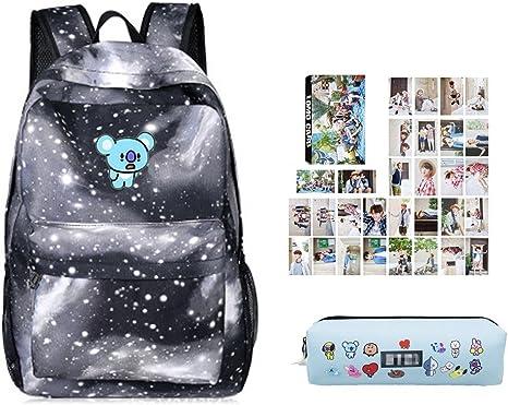 Youyouchard BTS Bangtan - Mochila para niños BTS + estuche BTS + BTS Photocard, el mejor regalo para el ejército: Amazon.es: Juguetes y juegos
