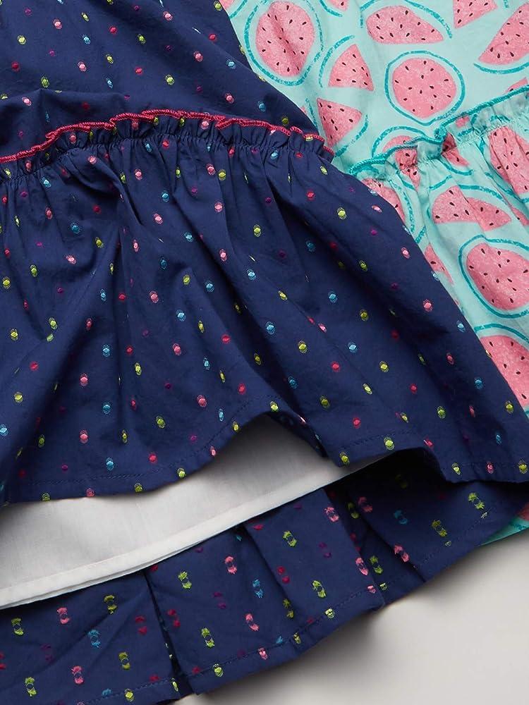Spotted Zebra Girls Woven Sleeveless Tiered Dresses Brand