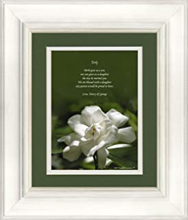 Framed Personalized Daughter In Law Gift Gardenia With Poem Beautiful Wedding Or Welcome