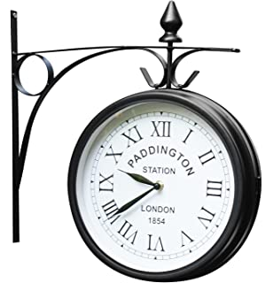 Paddington Station Weather Resistant Double Sided Garden Outdoor Wall Clock    26cm (10.4in)
