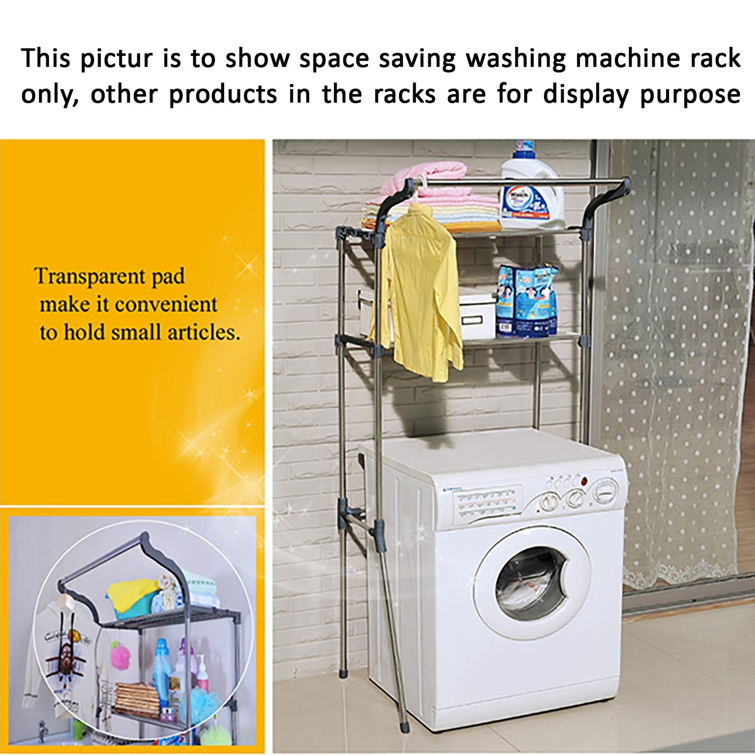 Amazon price history for AARTIN Space Saving Washing Machine Rack Suitable for up to 70 cm Width Machines