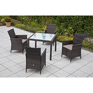 Amazon.de: MERXX Gartenmöbel-Set Pesaro 9-tgl. Sessel inkl ...
