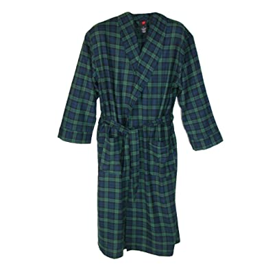 Amazon.com  Hanes Men s Flannel Robe Tall Sizes  Clothing 279a5a2a4