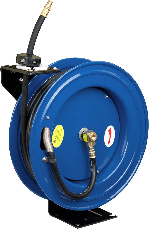 Amazon Com Cyclone Pneumatic Cp3688 Retracable Air Hose Reel Blue Air Tool Hose Reels Garden Outdoor
