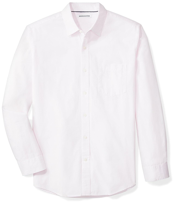 Amazon Essentials Men's Regular-Fit Long-Sleeve Stripe Shirt S17AE30000