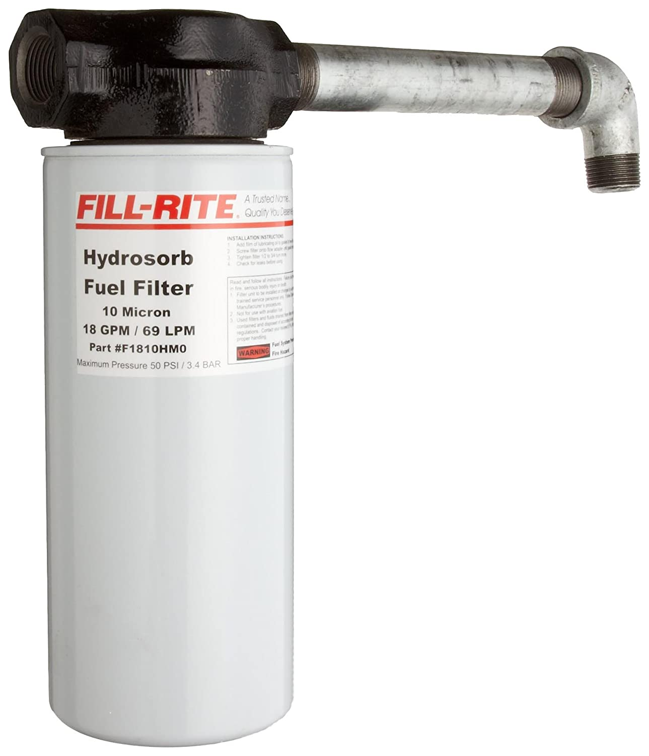 Amazon.com: Fill-Rite F4010PM0 10 Micron 40 GPM Particulate Spin on