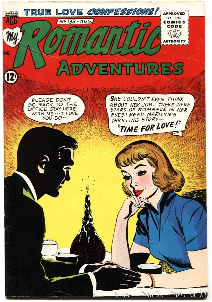 My Romantic Adventures #133 1964- Fat girl/ugly duckling story: