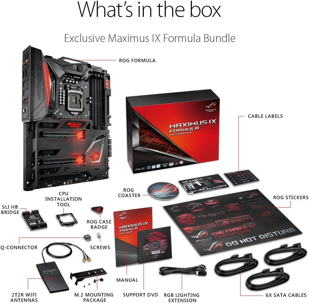 ASUS ROG Maximus IX Apex Motherboard Aura Sync RGB LEDs, DDR4 4266MHz, DIMM.2 dual M.2 expansion card, and USB Type-A//C