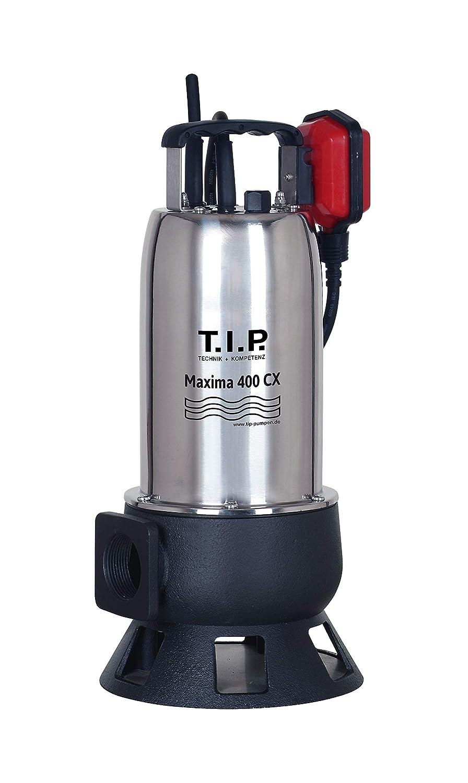T.I.P. 30140 Schmutzwasser Tauchpumpe Baupumpe Maxima 400 CX, bis 24.000 l/h Fö rdermenge