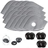 Activated Carbon Filters Replacements Parts Set of 15 Fit for Most Cycling Filters with 6 Exhaust Valves Replacement…