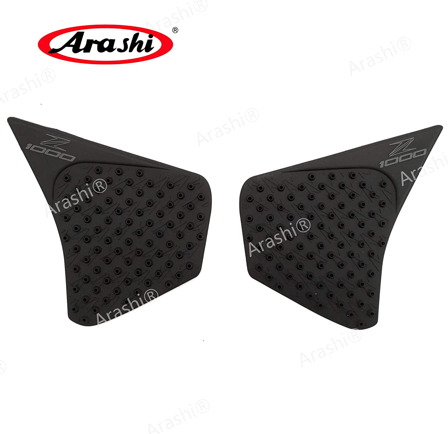 Arashi Anti slip Gas Tank Pad Protector Stickers Knee Grip Traction Side Pads for KAWASAKI Z1000 2014-2017 Motorcycle Accessories Z 1000 Black 2015 2016