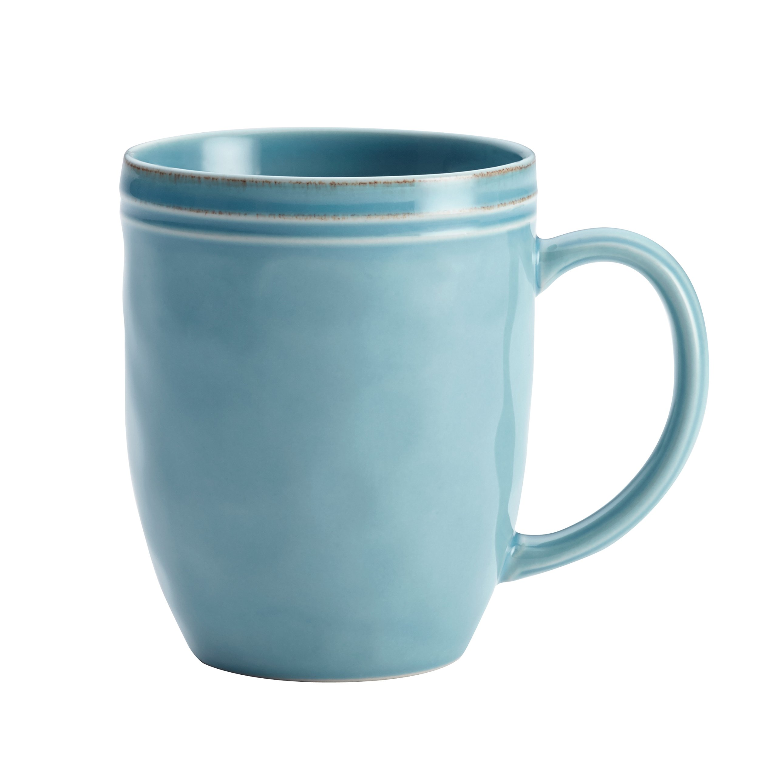 Rachael Ray Cucina Dinnerware 16-Piece Stoneware Dinnerware Set, Agave Blue by Rachael Ray (Image #3)