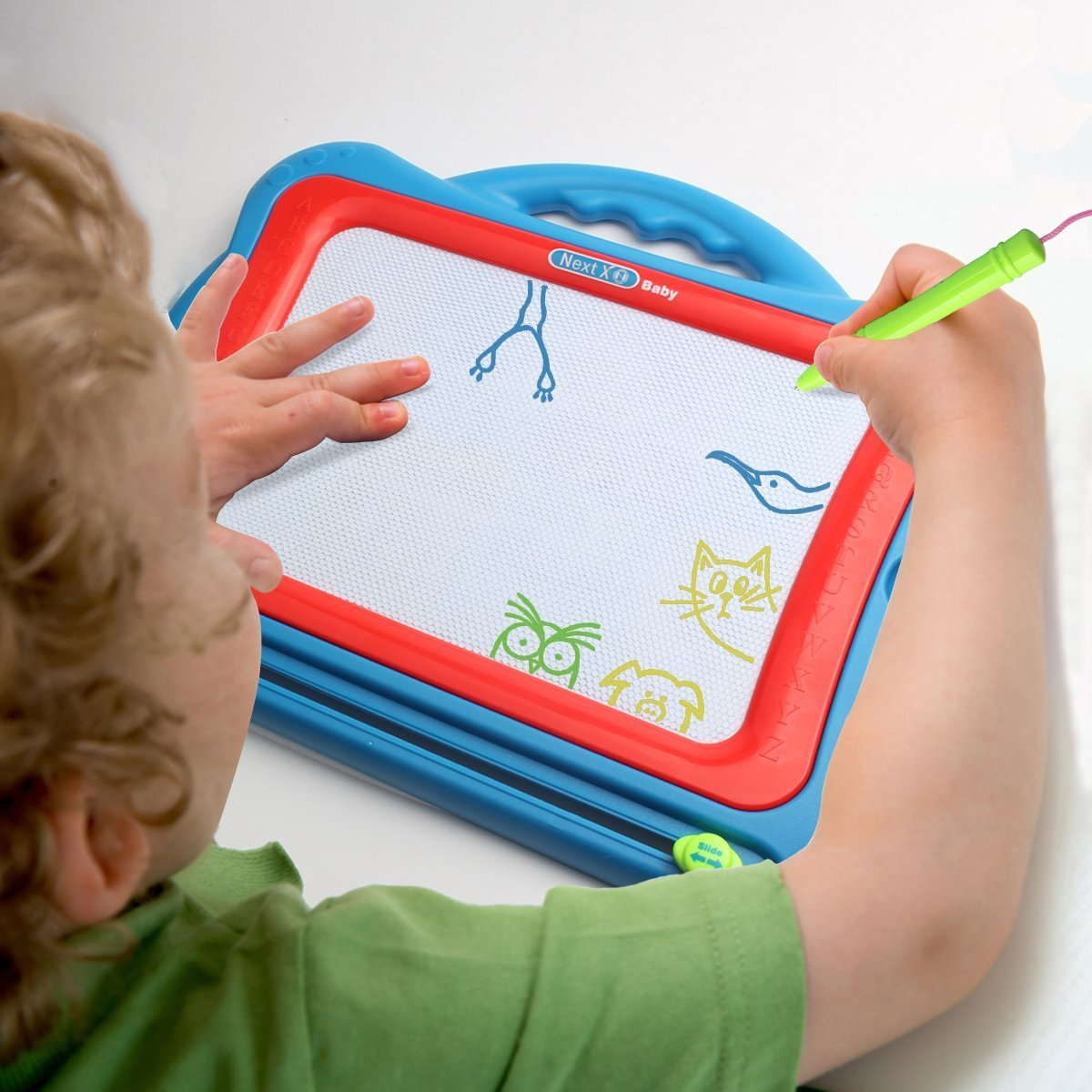 Erasable Sketch Writing Pad for Kids Toddler Boy Girl/ (Extra Large Size) Tomons Magnetic Drawing Board Toy,15.75 Inch Doodle Board with Multi-Colors Drawing Screens