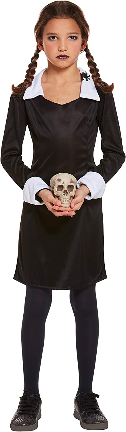 SCARY DAUGHTER/WEDNESDAY ADAMS GIRLS COSTUME - SMALL (disfraz ...