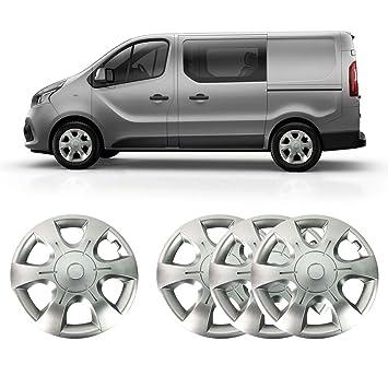 16 plata sólido irrompible ABS de rueda cover set (Set ...