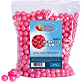 Gumballs in Bulk - Pink Gumballs for Candy Buffet - Gumballs 1/2 Inch - Shimmer Gumballs , Bulk Candy 2 LB