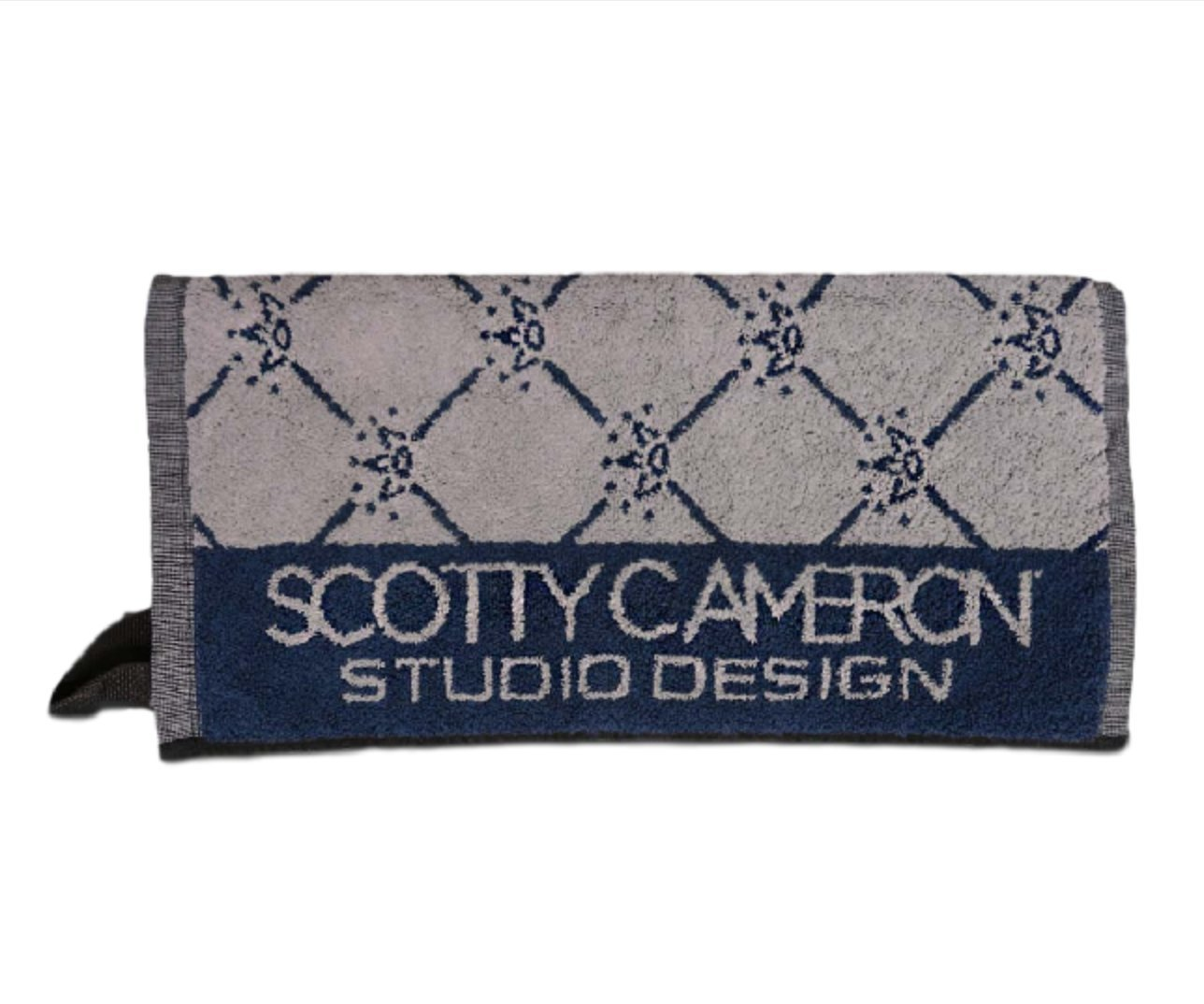 Scotty Cameron Silver & Navy 7 Point Crown Limited Edition Golf Towel 37'' x 20'' by Scotty Cameron