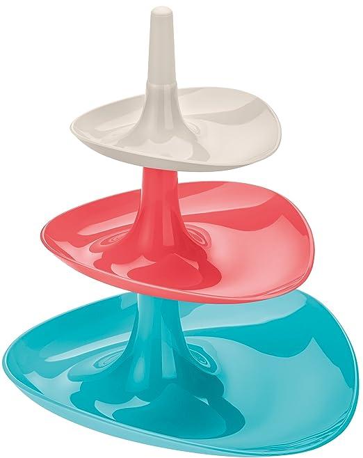 6 opinioni per Koziol Betty alzatina 3 piani bianco rosa azzurro centrotavola portatutto