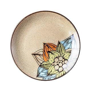 NuoEn Plato De Cerámica, Plato Redondo Desayuno Cena Platos para Cocinar Lavavajillas De Peso Ligero Microondas Caja Fuerte Sin BPA Fiesta En Casa (Color : D#)