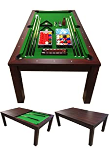Amazoncom Fusion Pool Table And Dining Table Convertible Pool