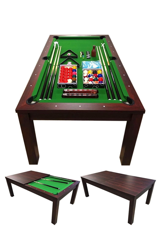 Mesa de Billar 7 ft Carambola con Plan de Cobertura Incluido mod. Green Star Nuevo - Medición de 188 x 96 cm! GRAFICA MA.RO SRL
