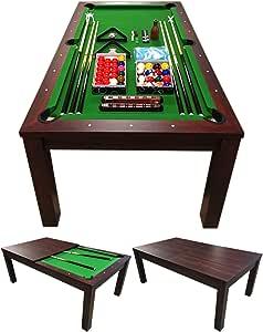 Simba Mesa de Billar 7 ft Carambola con Plan de Cobertura Incluido Mod. Green Star Nuevo embalado! Medición de 188 x 96 cm!: Amazon.es: Juguetes y juegos