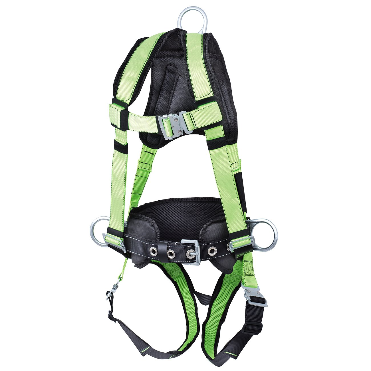 Peakworks V8255622 PeakPro Safety Harness with Positioning Belt-3D-Class AP Green Medium