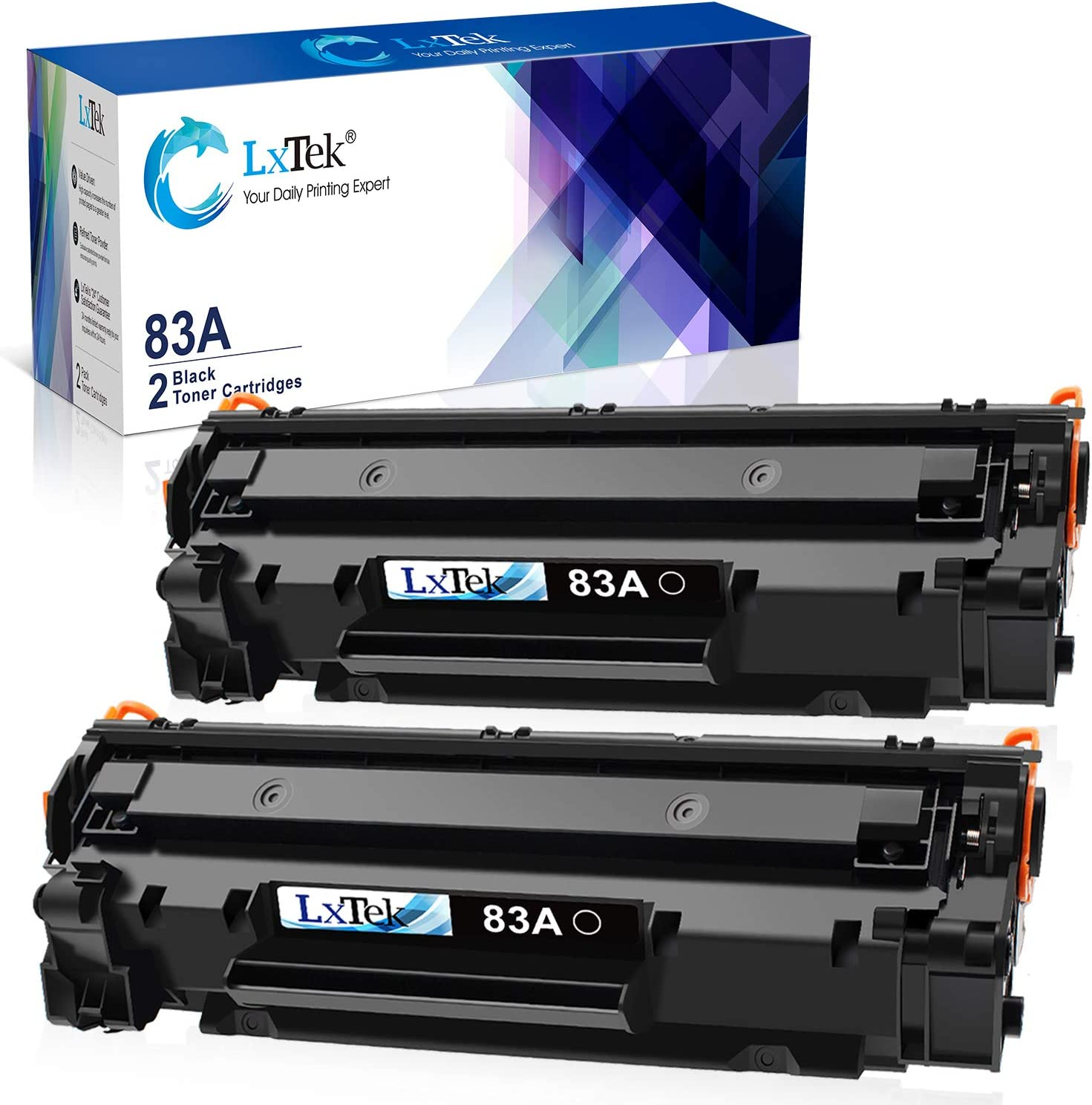 LxTek Compatible Toner Cartridge Replacement for HP 83A CF283A to use with Laserjet Pro MFP M125nw M201dw M225dw M201n M125a M127fn M127fw, 2 Black