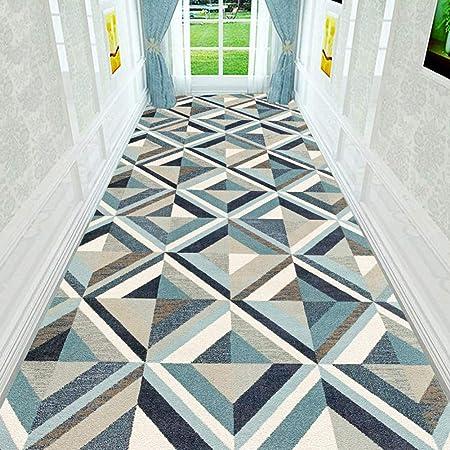 HAIPENG-alfombras pasillo Corredor Largo Entrada Antideslizante Estera De Puerta Lavable En La Lavadora Paso Formal (Color : A, Tamaño : 0.9x6m): Amazon.es: ...
