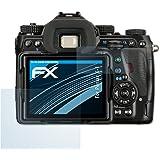 Pentax K-1 Schutzfolie - 3er Set atFoliX FX-Clear kristallklare Folie Displayschutzfolie