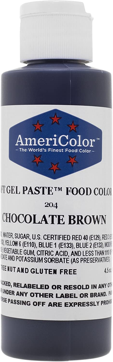 Americolor 4.5 Oz Chocolate Brown Soft Gel Paste