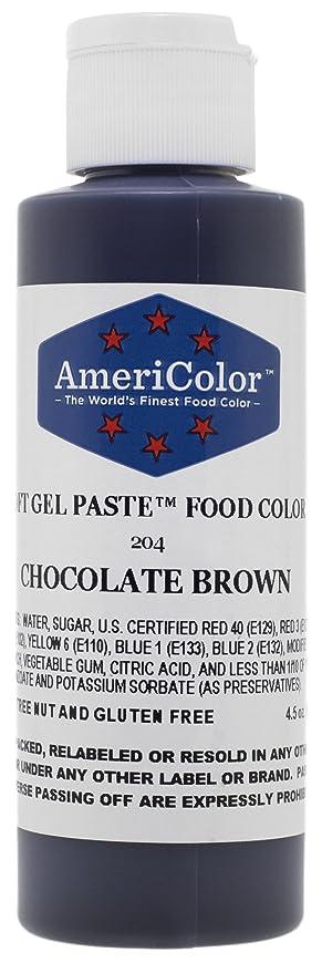 Amazon.com: Americolor 4.5 Oz Chocolate Brown Soft Gel Paste ...