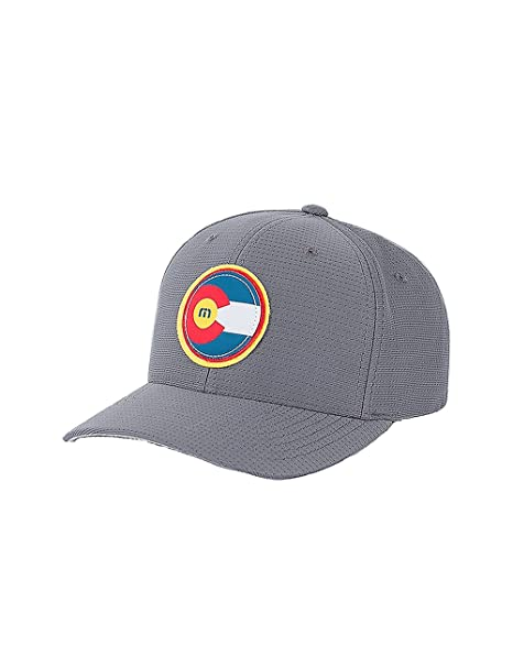 40d61ccf07f Travis Mathew Colorado Flag Hat The Jo (Grey) Large X-Large at ...