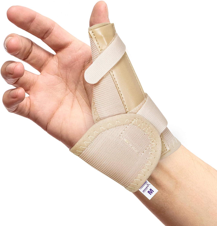 Férula, órtesis y Espica Médica Elástica para Pulgar – Reduce el Dolor de esguinces y distensiones de Pulgar, tendinitis de Pulgar o Dolor posoperatorio