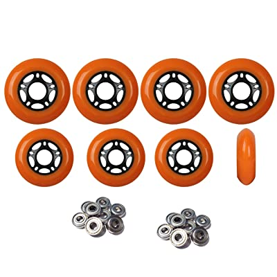 Player's Choice Outdoor Inline Skate Wheels 72mm/80mm ORN Hilo Roller Blade Hockey ABEC 5 Bearings : Sports & Outdoors