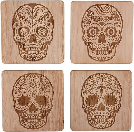 Gorgeous Sugar Skull Girls Beverage Coasters
