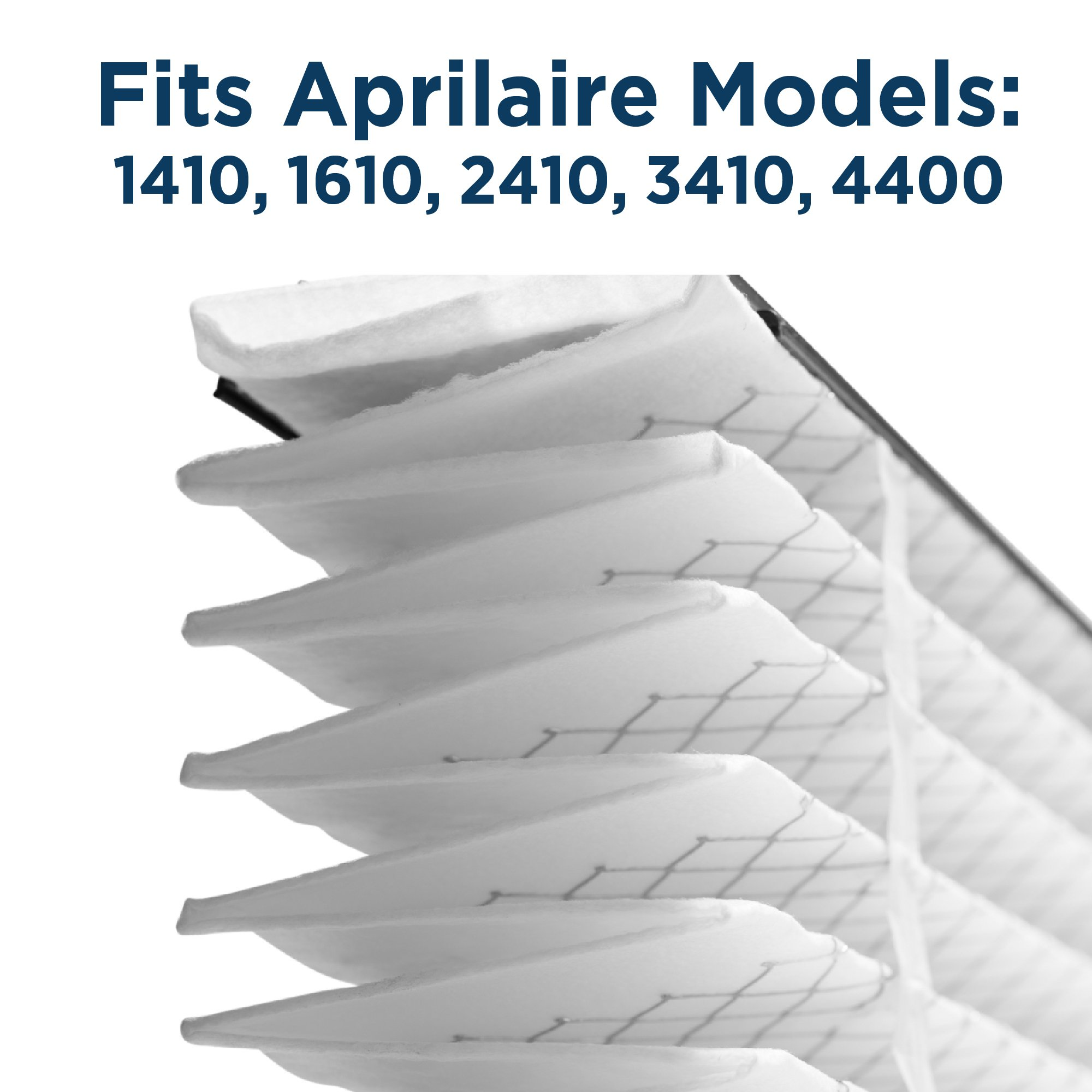 Aprilaire 410 Air Filter 8 Pack for Air Purifier Models 1410, 1610, 2410, 3410, 4400 by Aprilaire (Image #4)