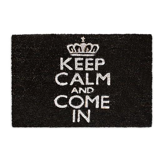 6 opinioni per Relaxdays 10017759 Zerbino Keep Calm And Come In, Fibra di Cocco, Base
