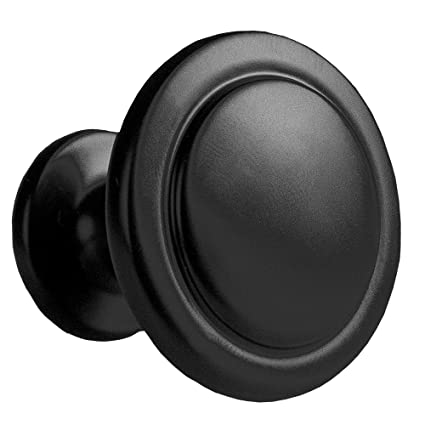 Flat Black Kitchen Cabinet Knobs 1 1 4 Inch Round Drawer Handles