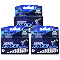 Dorco Pace 6 Plus Power - Six Blade Power Razor System with Trimmer - 12 Cartridges (No Handle)