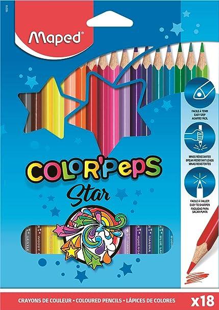 Maped ColorPeps - Pack de 18 lápices de colores: Amazon.es ...
