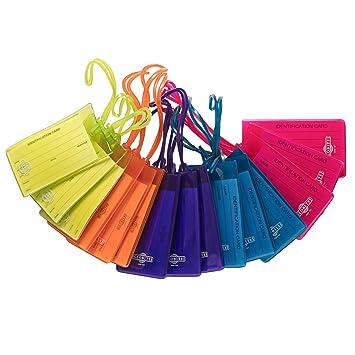 Amazon.com: Paquete de 15 etiquetas flexibles para equipaje ...