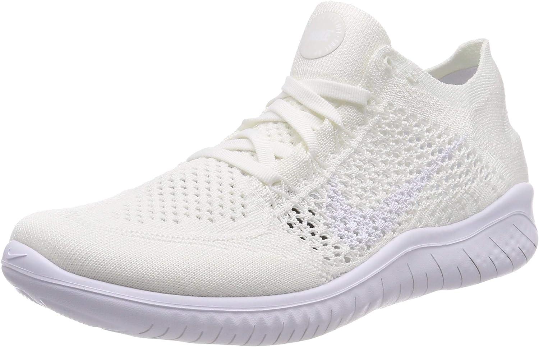 Nike Wmns Free RN Flyknit 2018, Zapatillas de Running para Mujer, Blanco (White/White 103), 43 EU: Amazon.es: Zapatos y complementos