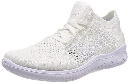 newest 7af4f 5b556 Nike Free RN Flyknit 2018, Scarpe da Ginnastica Basse Donna, Bianco White  001,