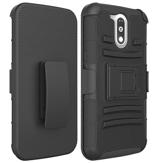 b2c74f47101 Funda Case con Clip para Motorola Moto G4 / Moto G4 Plus Uso Rudo Triple  Prot.: Amazon.com.mx: Electrónicos